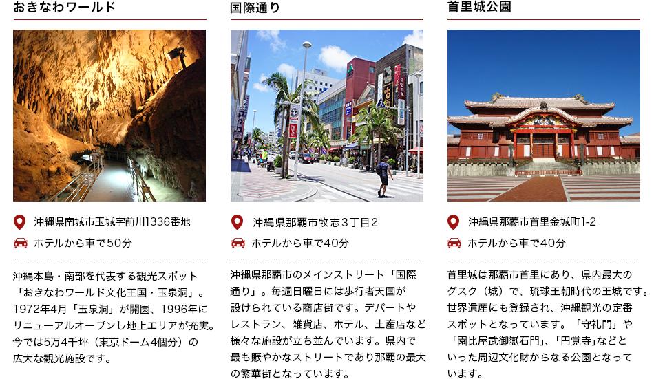 沖縄ワールド・国際通り・首里公園